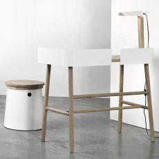 B Desk - Scrivania Universo Positivo in legno con elementi in metallo