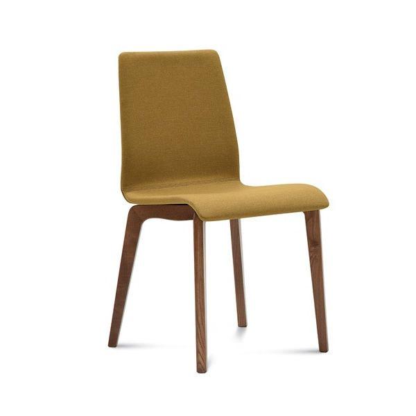 Jude l chaise domitalia en bois assise garnie avec for Assise de chaise en bois