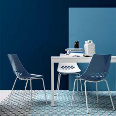 CB1059 Jam - Stuhl Connubia - Calligaris mit aus Metall und Technopolymer, verschiedene verfügbare Farben