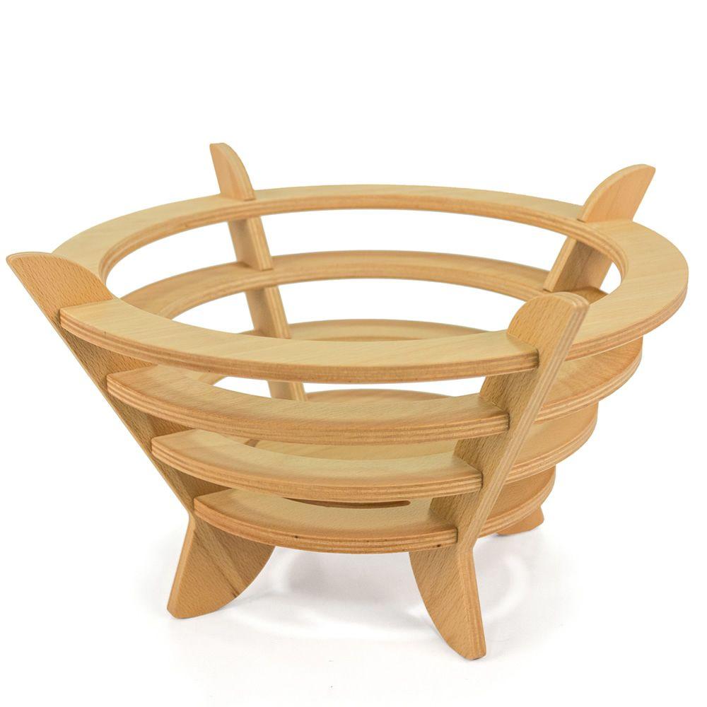 Fruct o porta frutta moderno in legno sediarreda - Portafrutta in legno ...