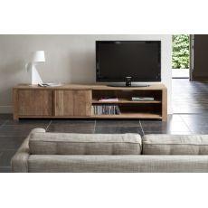 Lodge-TV - Mobile porta TV Ethnicraft in legno con ante, diverse misure disponibili