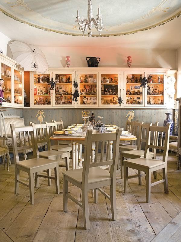da creativo sala Rustica pranzo : SP7 - Sedia rustica in legno ambientata in una sala da pranzo