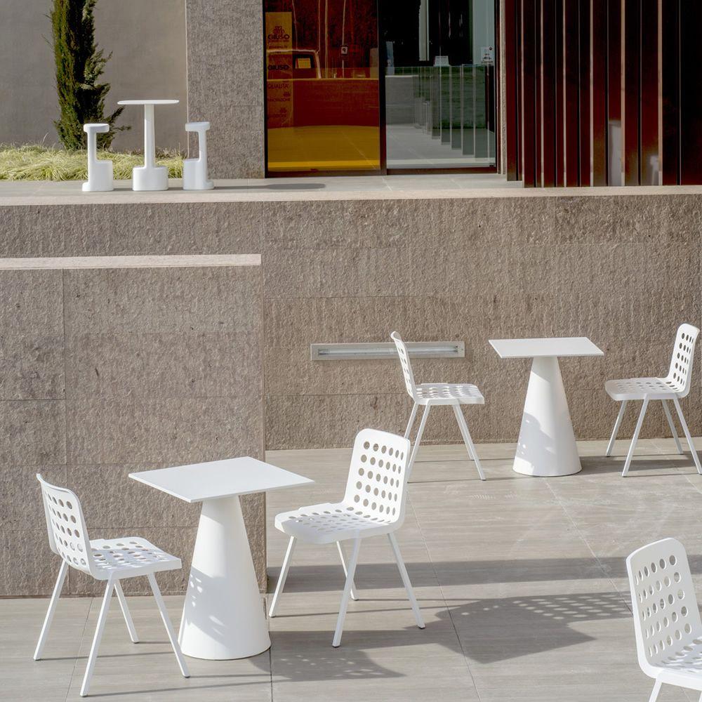 Koi booki 370 sedia pedrali in alluminio e polipropilene impilabile anche per esterno - Colore esterno casa bianco ...