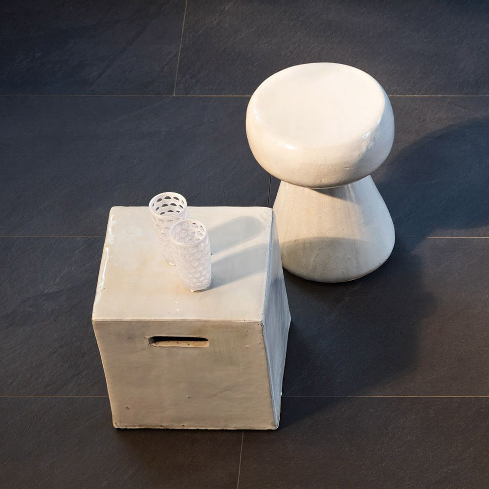 Inout 44 Gervasoni Coffee Table Pouf In Ceramic Also