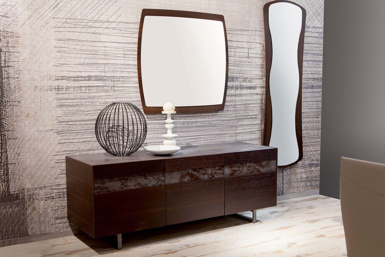 Credenza Moderna Con Espejo : Boat espejo moderno con marco de mdf cuadrado cms