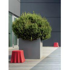 Casper - Pouff - Tavolino Domitalia in polietilene, diversi colori disponibili, anche per esterno