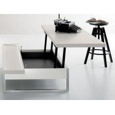 Adone - Tavolino da salotto trasformabile in scrivania, diverse finiture