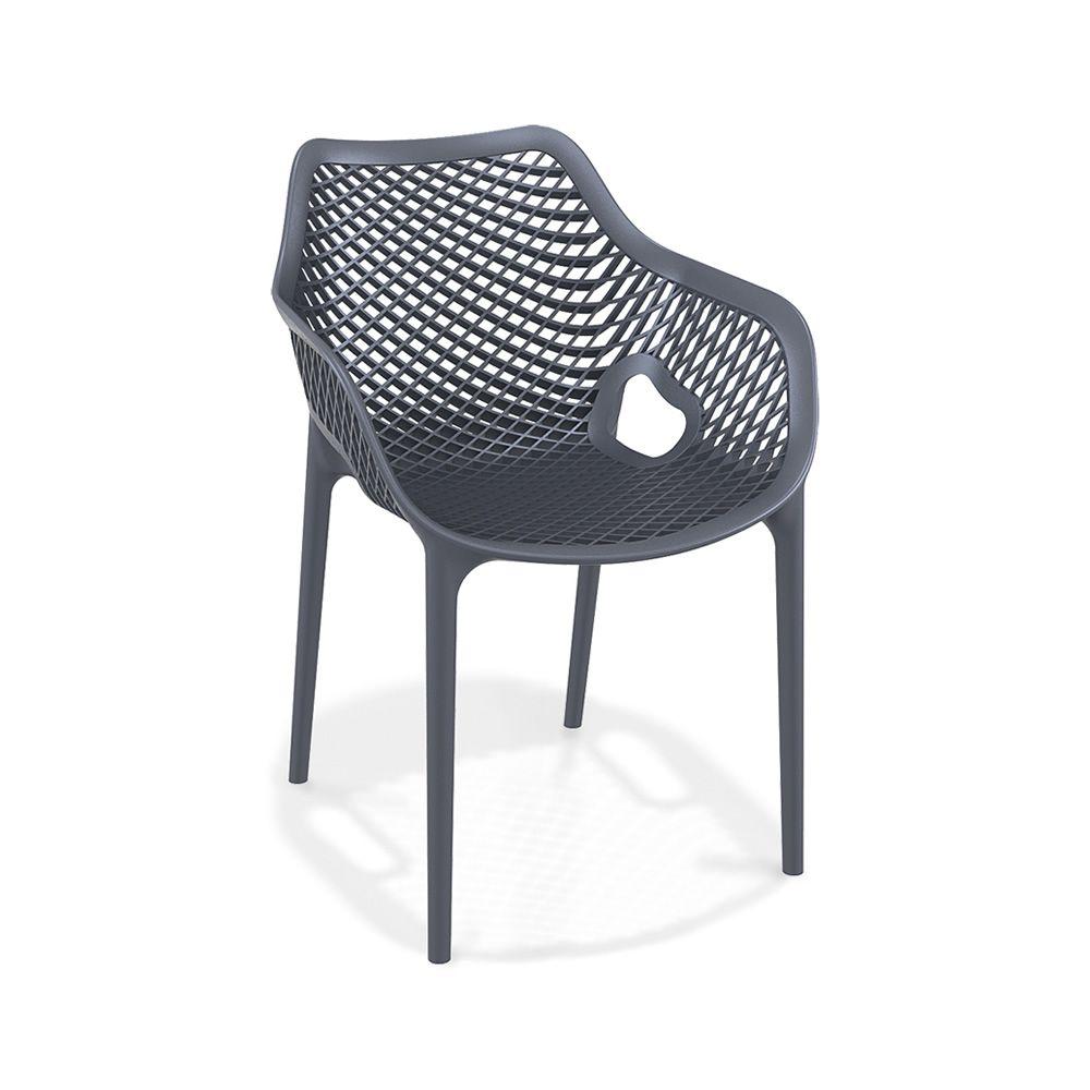 Tt1051 fauteuil de jardin en polypropylene erenforc - Chaise de jardin gris anthracite ...