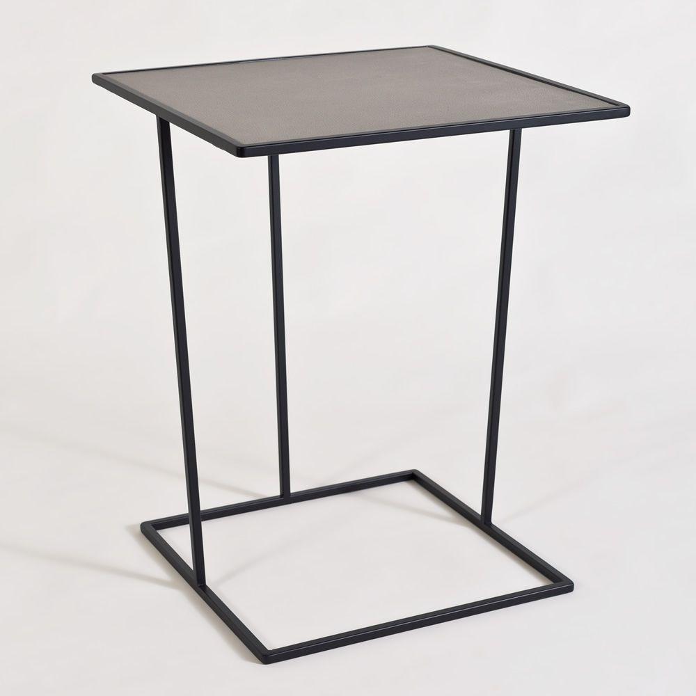 Costance Q Promo - Tavolino di design in metallo, quadrato, con piano ...