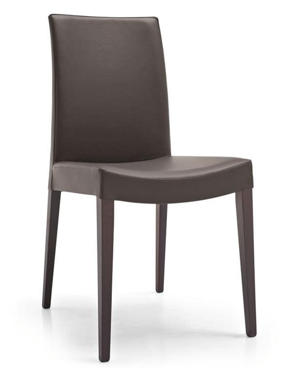 401 silla moderna de madera asiento acolchado y tapizado for Tapizados de sillas modernas