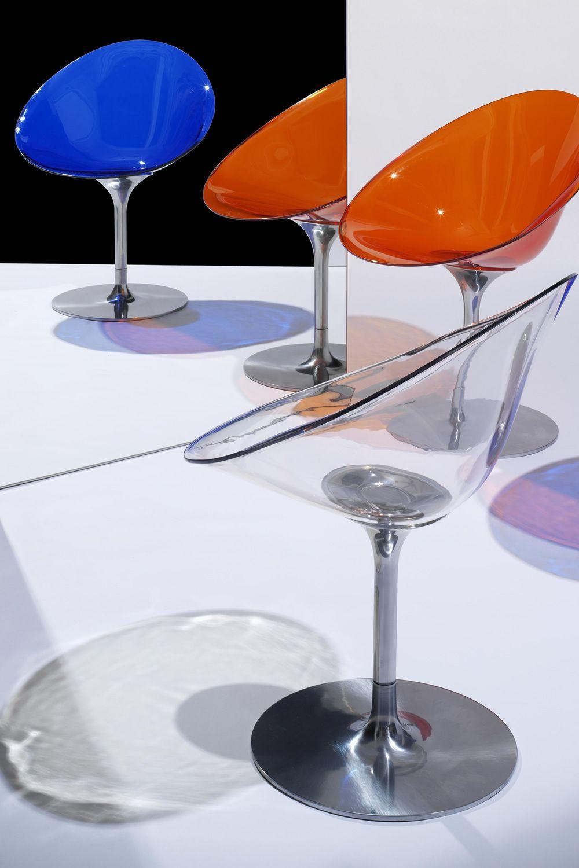 Eros drehstuhl kartell mit zentralen untergestell aus for Designer drehstuhl