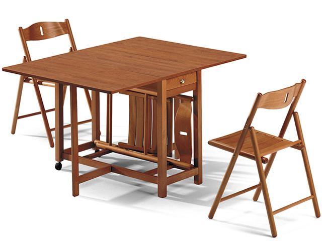 TAVOLO LS14 - Tavolo pieghevole in legno, 44x95 cm allungabile ...