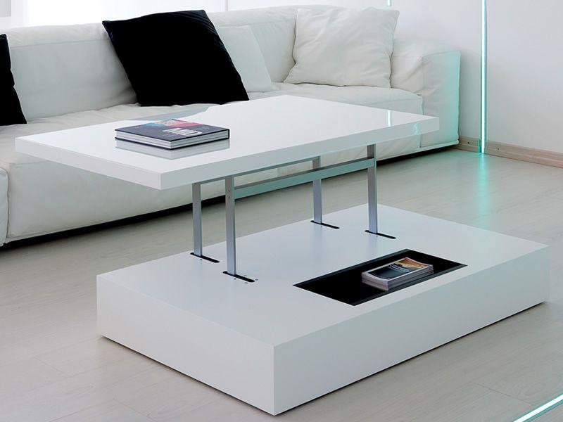 h henverstellbarer couchtisch aus metall glasplatte 78x49. Black Bedroom Furniture Sets. Home Design Ideas
