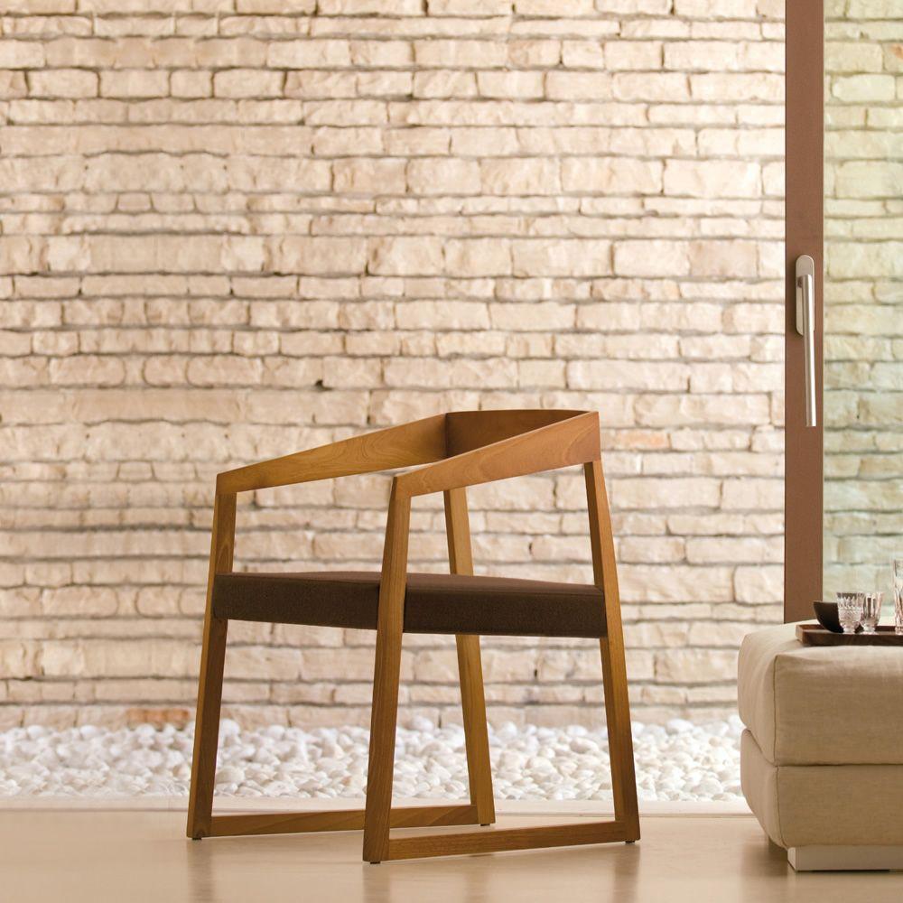 Sign 455 sedia con braccioli pedrali di design in legno for Sedia di design