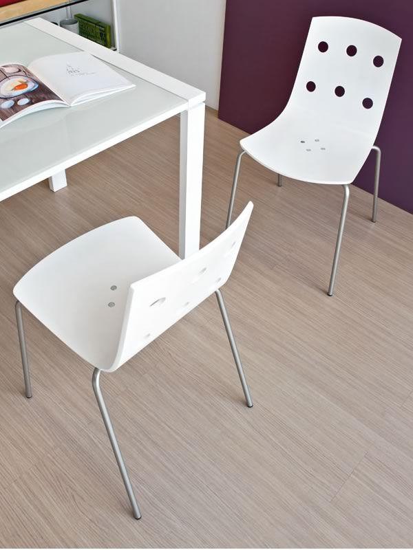 325 chaise empilable en m tal avec assise en stratifi for Stratifie laque