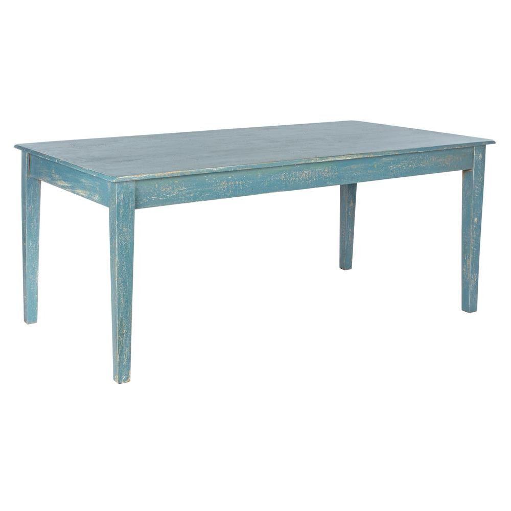 Costanzo - Tisch Shabby Chic, aus Holz, fest 180x90 cm | Sediarreda.com