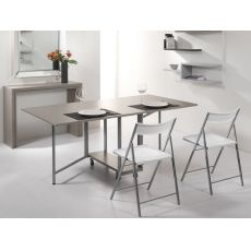 Archimede Set - Console set with folding table 170 x 90 cm and 6 chairs, several colours