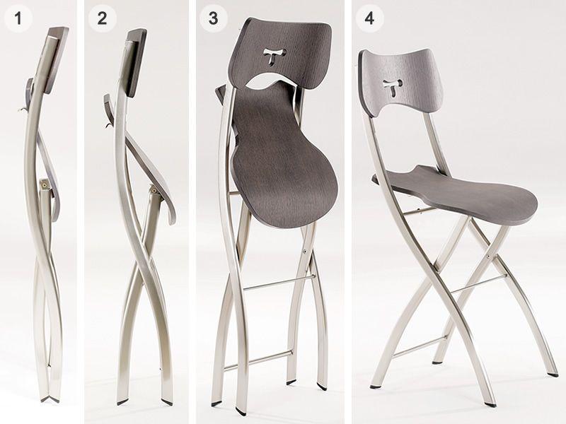 Opl sedia pieghevole moderna in metallo e metacrilato - Sedia pieghevole trasparente ...