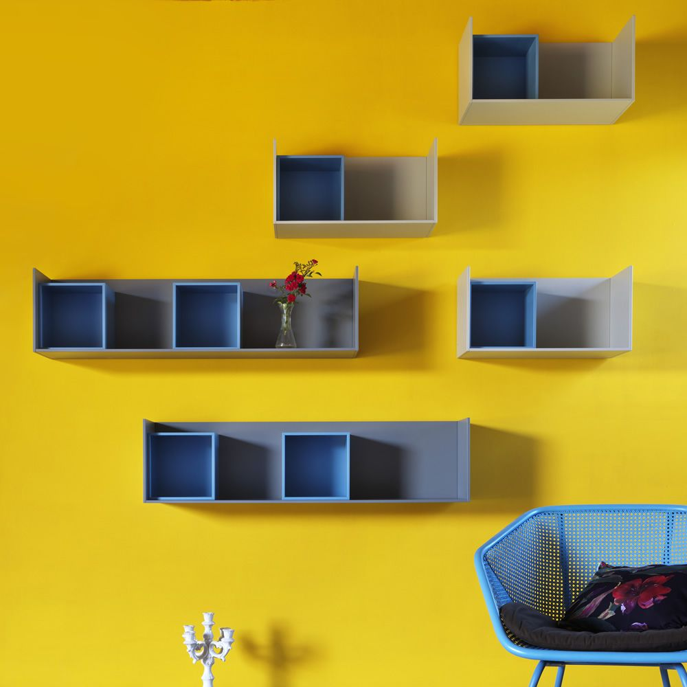 Edge   Wall shelf made of MDF, different sizes available