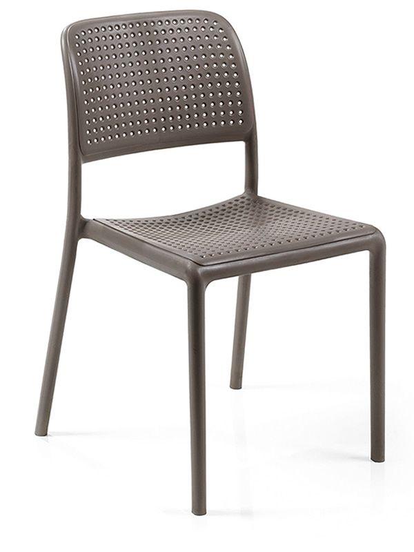 Bora bistrot chaise en r sine avec fibre de verre en for Chaise fibre de verre