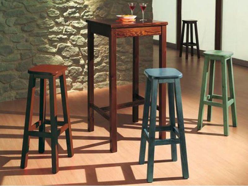 Av309a taburete r stico en madera de pino disponible en - Taburetes de madera rusticos ...