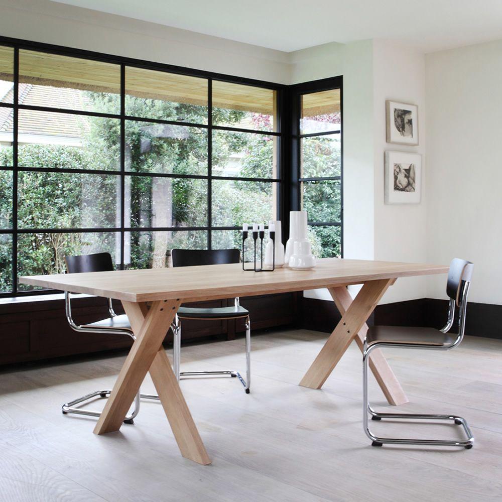Pettersson tavolo ethnicraft in legno diverse finiture for Misure tavolo
