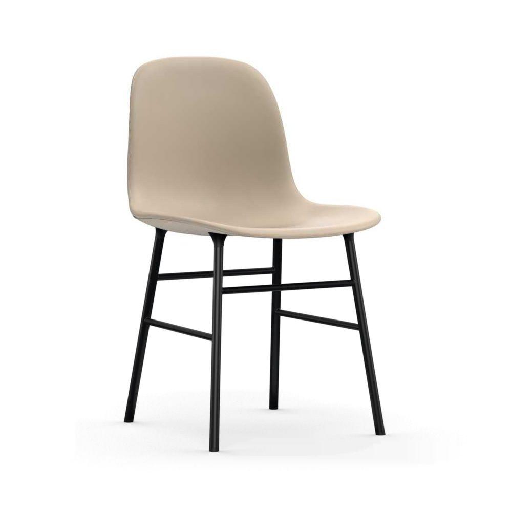 Form-UP - Sedia in metallo laccato nero, seduta imbottita e rivestita ...