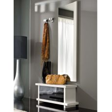 PA252B - Modern entrance furniture with mirror and hangers