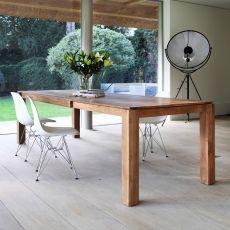 Slice-A - Tavolo Ethnicraft in legno, diverse finiture disponibili, 180 x 100 cm allungabile