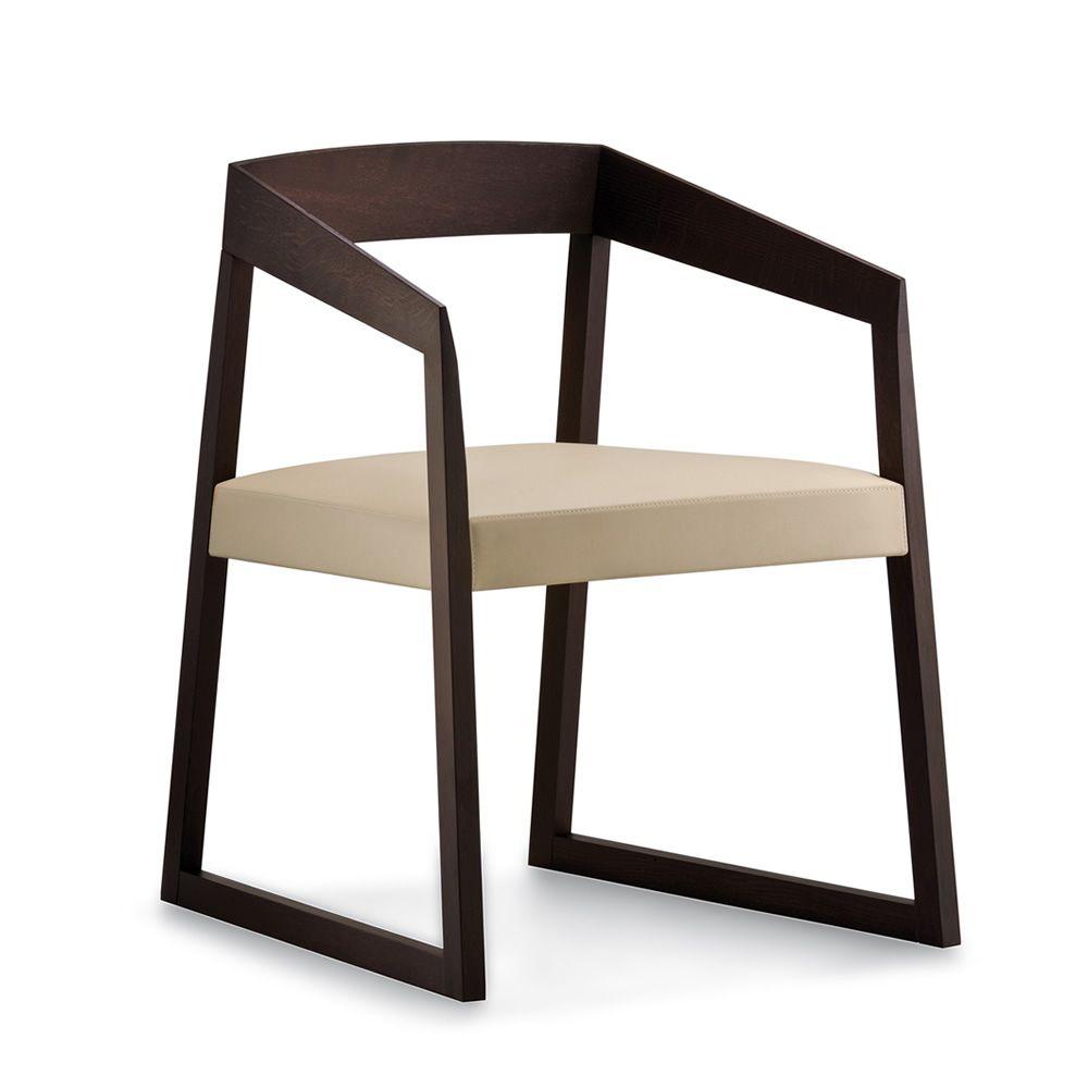 Sing 455 sedia con braccioli pedrali di design in legno - La sedia di design ...