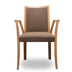 Forma P - Tonon modern chair, with armrests, wooden frame and upholstered seat