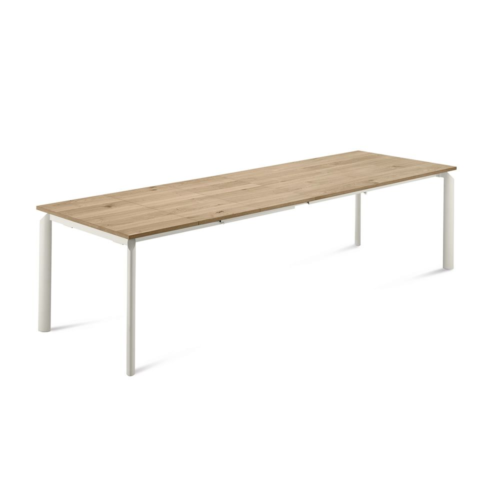 Energy 160 table extensible domitalia en m tal for Table 160 cm avec rallonge