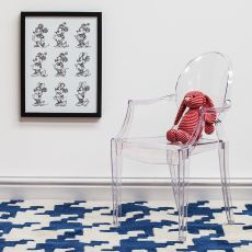 Lou Lou Ghost - Kartell design chair for children, transparent or full colour polycarbonate, stackable, also for garden