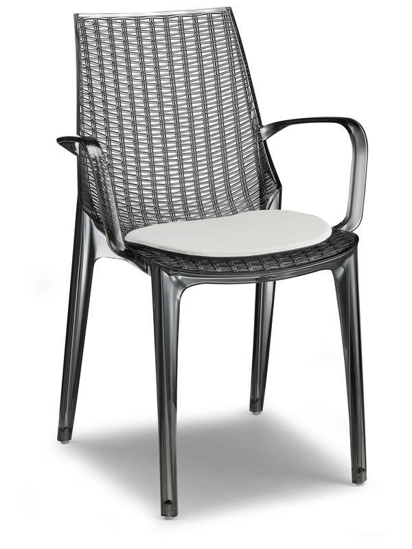 tricot 2651 pour bars et restaurants chaise de bar en polycarbonate avec ou sans accoudoirs. Black Bedroom Furniture Sets. Home Design Ideas