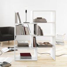 Extend - Libreria estendibile in MDF laccato bianco