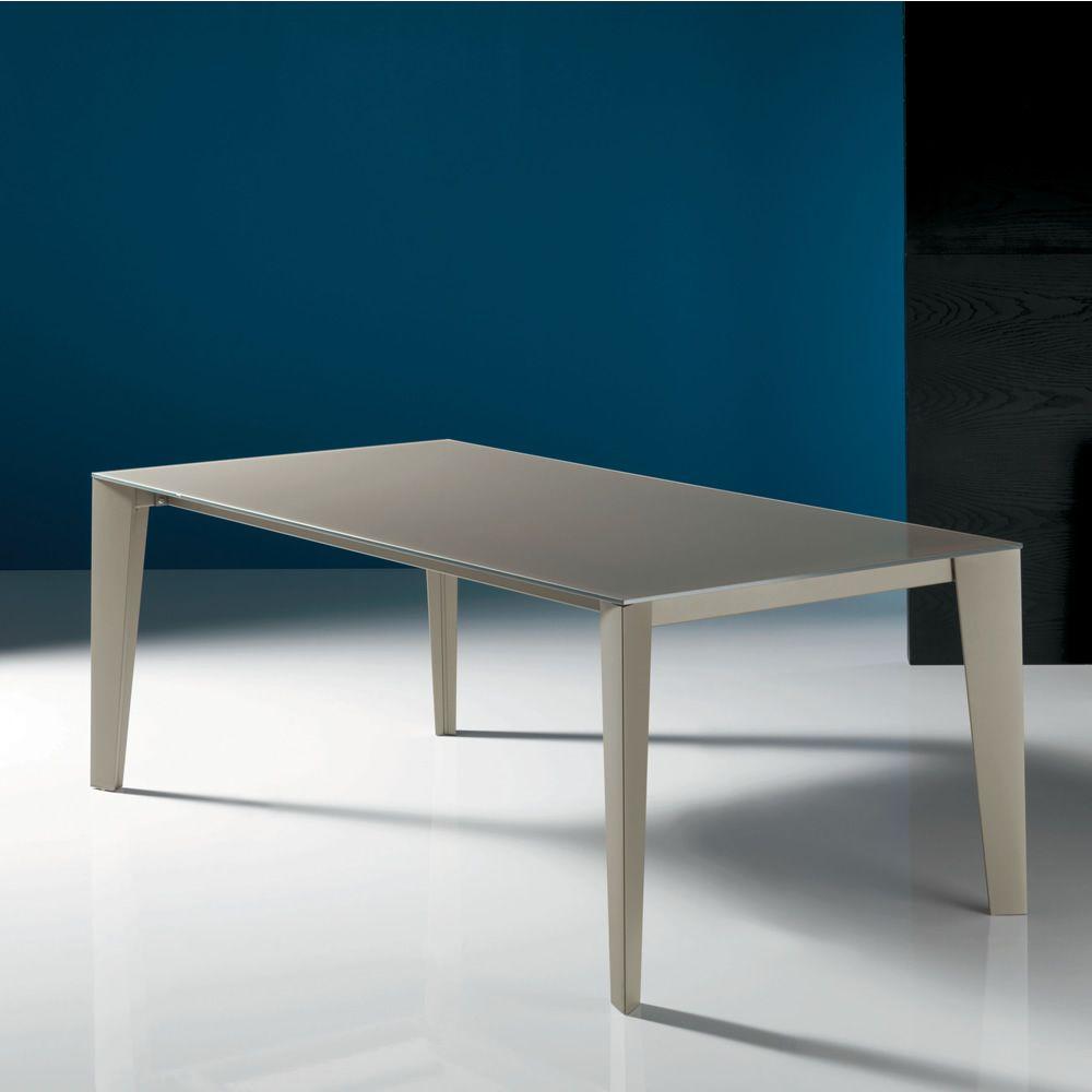 Cruz tavolo di design bontempi casa 140 x 90 cm for Tavolo di design in metallo