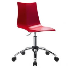 Zebra office 2602 - Home office armchair, swivel and adjustable, metal structure and polycarbonate seat, available in several colours