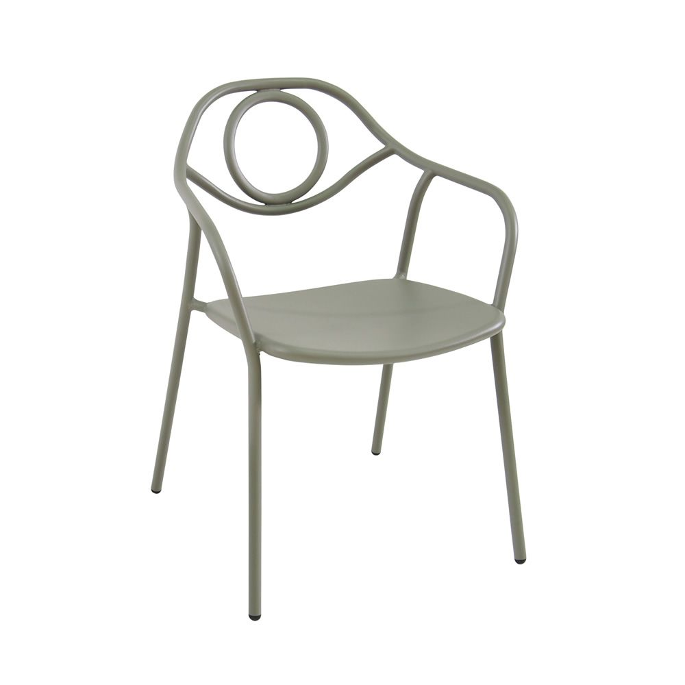 Zahir para bare y restaurantes silla de metal apilable for Easy sillas de jardin