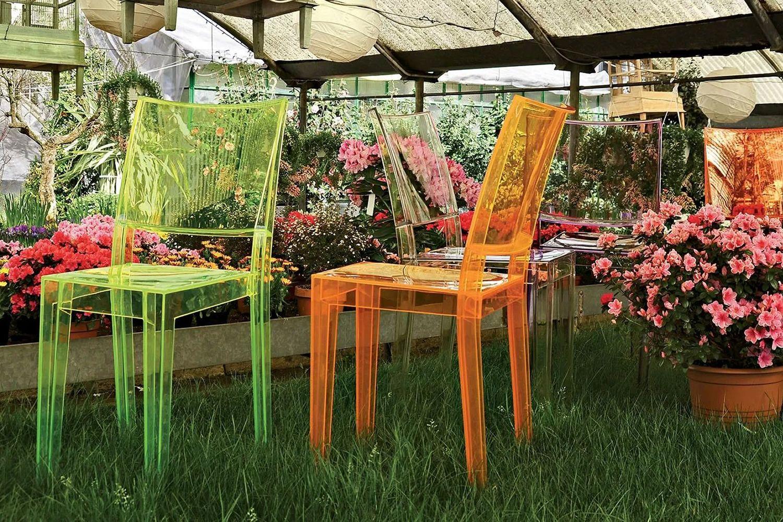 La marie sedia kartell di design in policarbonato trasparente