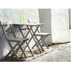 Martignano T - Tavolo pieghevole in legno, piano 58x58 cm, per esterno