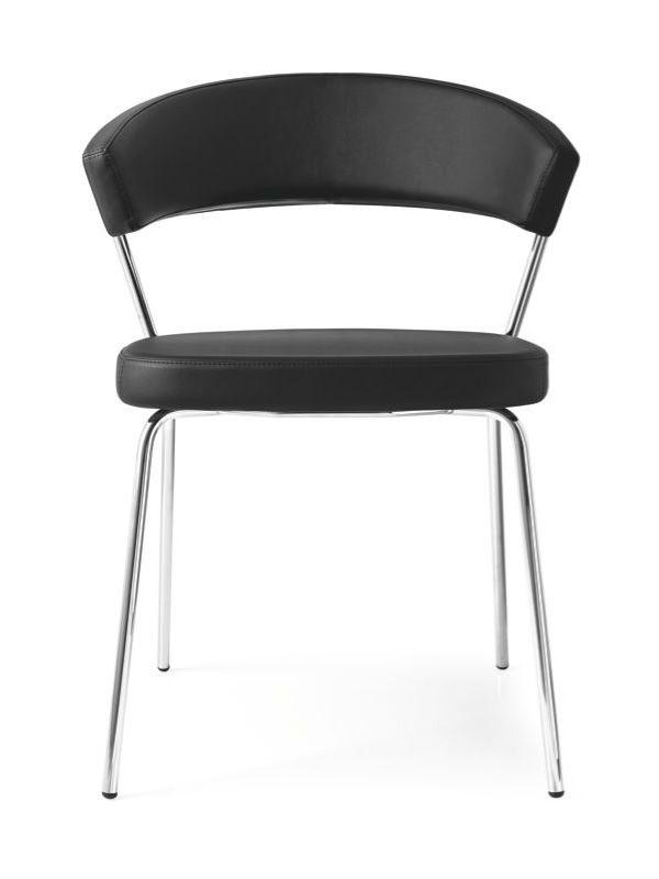 cb1084 new york stuhl connubia calligaris aus metall mit bezug aus leder oder kunstleder. Black Bedroom Furniture Sets. Home Design Ideas
