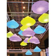 Bijoux S - Slide polyethylene pendant lamp, different colours and sizes