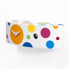 Ellipse - Orologio di design a cucù, in legno, diversi colori disponibili