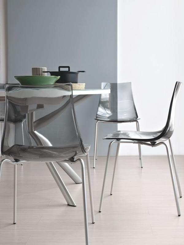 738 tavolo tondo in metallo piano in vetro diametro 120 for Sedie struttura acciaio satinato