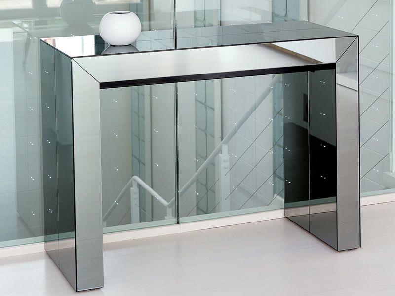 Consolle In Vetro Allungabile.Glass Consolle In Mdf 100 X 43 Cm Allungabile Sediarreda Com