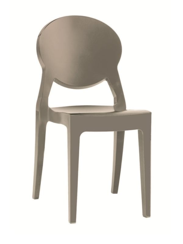 Sc2357 igloo chair chiase moderne en polycarbonate gris tourterelle - Chaise polycarbonate italie ...