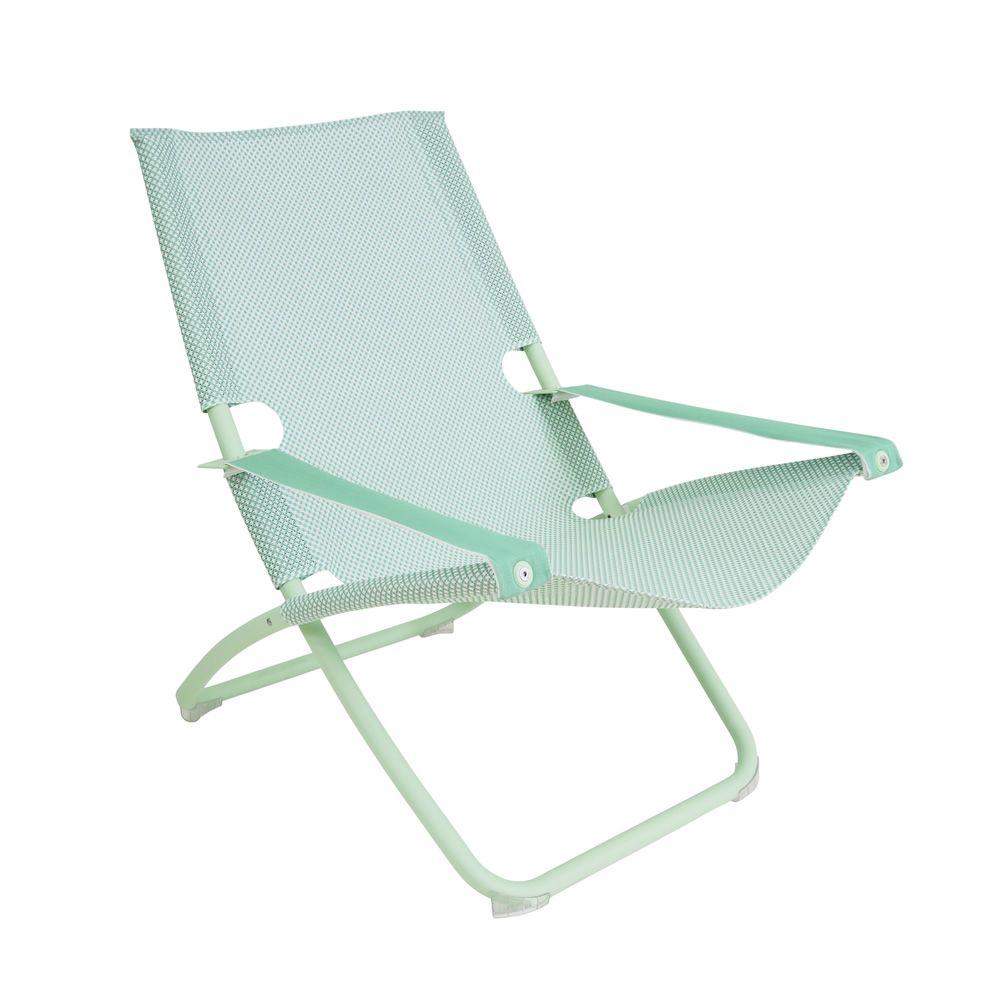 Snooze liegestuhl emu aus metall klappbar in 2 positionen verstellbar sediarreda - Liegestuhl metall ...