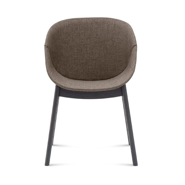 Coquille l chaise domitalia en bois assie rev tue en - Chaise coquille d oeuf ...