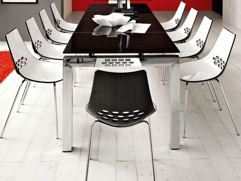 Cb1059 jam per bar e ristoranti sedia da bar in metallo for Sedie calligaris policarbonato