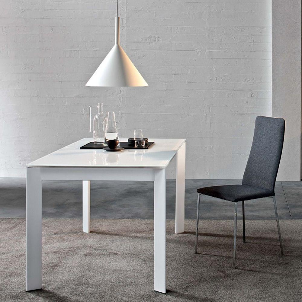 Talete tavolo di design in metallo con piano in vetro - Piano tavolo vetro ...